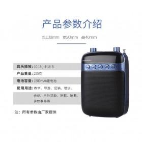 LENRUE Amplifier Penguat Suara dengan USB TF Card FM Radio - H3 - Black - 8