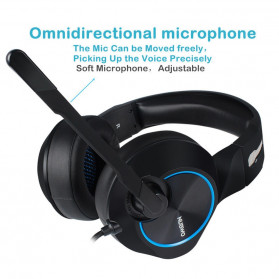 NUBWO Gaming Headphone Headset LED 7.1 Sound Channel with Microphone - N11 - Black - 2