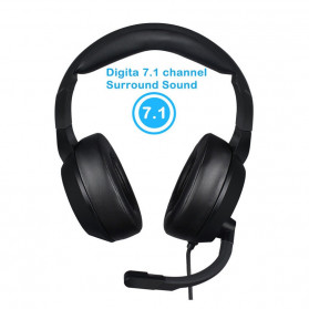 NUBWO Gaming Headphone Headset LED 7.1 Sound Channel with Microphone - N11 - Black - 4