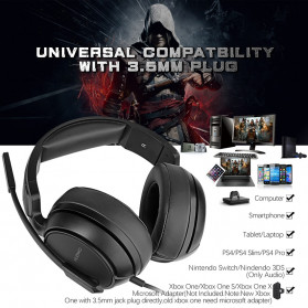 NUBWO Gaming Headphone Headset with Microphone - N12 - Black - 2