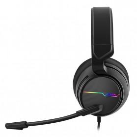 NUBWO Xiberia Gaming Headphone Headset LED 7.1 Sound Channel USB with Microphone - V20U - Black - 2