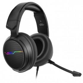 NUBWO Xiberia Gaming Headphone Headset LED 7.1 Sound Channel USB with Microphone - V20U - Black - 3