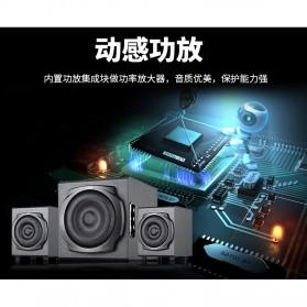 EARSON Multimedia Speaker Stereo 2.1 30W with Subwoofer - ER-2537 - Black - 2