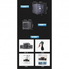 EARSON Multimedia Speaker Stereo 2.1 30W with Subwoofer - ER-2537 - Black - 3