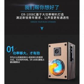 EARSON Multimedia Speaker Stereo 2.0 8W - ER-1008C - Black - 4