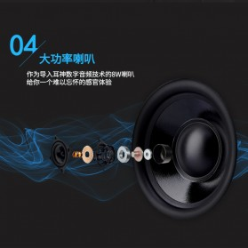EARSON Multimedia Speaker Stereo 2.0 8W - ER-1008C - Black - 5