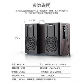 EARSON Multimedia Speaker Stereo 2.0 8W - ER-1008C - Black - 8