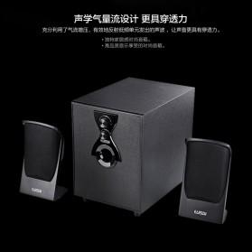 EARSON Multimedia Speaker Stereo 2.1 8W with Subwoofer - ER-2202 - Black - 3