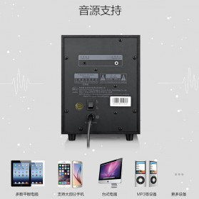 EARSON Multimedia Speaker Stereo 2.1 8W with Subwoofer - ER-2202 - Black - 5
