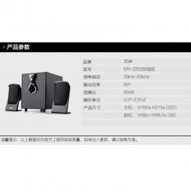 EARSON Multimedia Speaker Stereo 2.1 8W with Subwoofer - ER-2202 - Black - 7