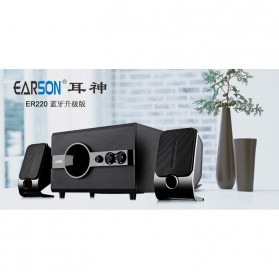 EARSON Multimedia Bluetooth Speaker Stereo 2.1 12W with Subwoofer - ER-220 - Black - 4