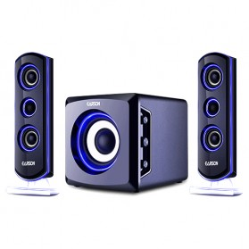 EARSON Multimedia Bluetooth Speaker Stereo 2.1 25W with Subwoofer - ER-2809 - Black
