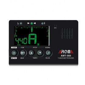 AROMA Tuner Gitar Metronome with Built-in Mic - AMT-560 - Black