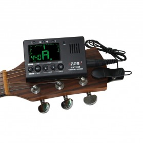 AROMA Tuner Gitar Metronome with Built-in Mic - AMT-560 - Black - 5