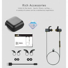 Plextone Earphone Bluetooth Sporty - BX343 - Black - 4