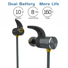 Plextone Earphone Bluetooth Sporty - BX343 - Black - 6