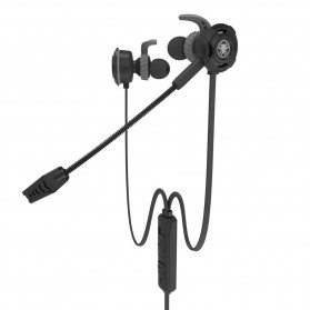 Plextone Gaming Earphone HiFi with Detachable Mic - G30 - Black