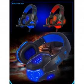 NDJU Gaming Headphone LED Deep Bass with Mic - PC780 - Black/Black - 2