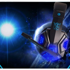 NDJU Gaming Headphone LED Deep Bass with Mic - PC780 - Black/Black - 3