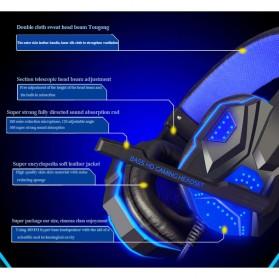 NDJU Gaming Headphone LED Deep Bass with Mic - PC780 - Black/Black - 4