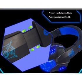 NDJU Gaming Headphone LED Deep Bass with Mic - PC780 - Black/Black - 5