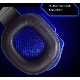NDJU Gaming Headphone LED Deep Bass with Mic - PC780 - Black/Black - 6