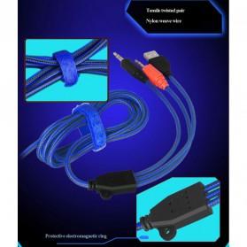 NDJU Gaming Headphone LED Deep Bass with Mic - PC780 - Black/Black - 7