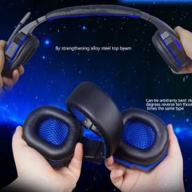 NDJU Gaming Headphone LED Deep Bass with Mic - PC780 - Black/Black - 8
