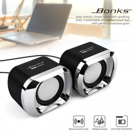 BONKS Multimedia Speaker Stereo 2.0 3W - DX12 - Black