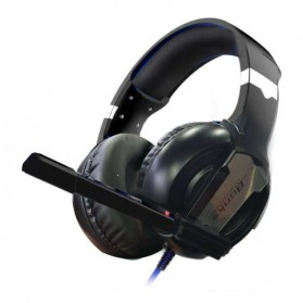 Bonks Gaming Headphone LED Deep Bass with Mic - G1 - Black/Black