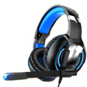 Bonks Gaming Headphone LED Deep Bass LED with Mic - G1 - Black/Blue