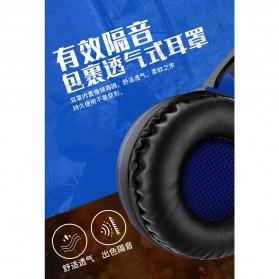 Bonks Gaming Headphone LED Deep Bass LED with Mic - G1 - Black/Blue - 3