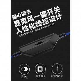 Bonks Gaming Headphone LED Deep Bass LED with Mic - G1 - Black/Blue - 6