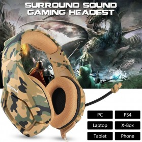 ONIKUMA Gaming Headset Super Bass with Microphone - K1-B - Yellow - 2