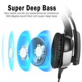 ONIKUMA Gaming Headset Super Bass LED with Microphone - K5 - Black - 4