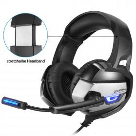 ONIKUMA Gaming Headset Super Bass LED with Microphone - K5 - Black - 7