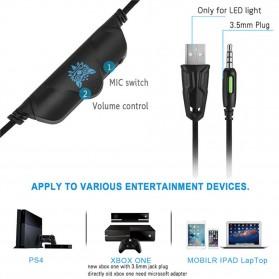 ONIKUMA Gaming Headset Super Bass LED with Microphone - K5 - Black - 8