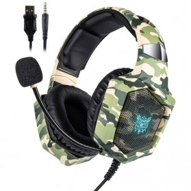 ONIKUMA Gaming Headset Super Bass RGB LED with Microphone - K8 - Camouflage - 1