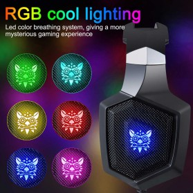 ONIKUMA Gaming Headset Super Bass RGB LED with Microphone - K8 - Black - 3