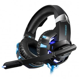 ONIKUMA Gaming Headset Super Bass LED with Microphone - K2 Pro - Black Blue