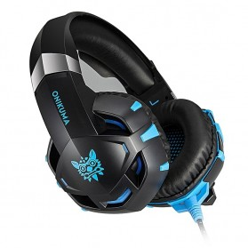 ONIKUMA Gaming Headset Super Bass LED with Microphone - K2 Pro - Black Blue - 4