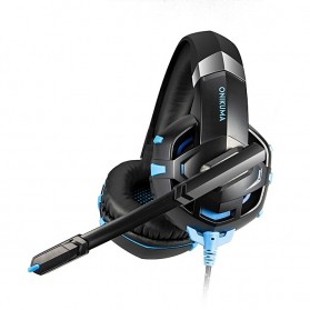 ONIKUMA Gaming Headset Super Bass LED with Microphone - K2 Pro - Black Blue - 5