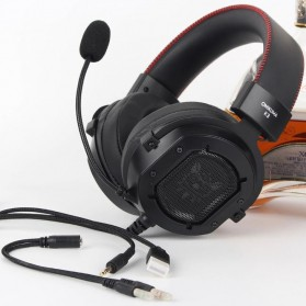 ONIKUMA Gaming Headset Super Bass RGB LED with Microphone - K3 - Black/Red - 3