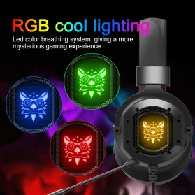 ONIKUMA Gaming Headset Super Bass RGB LED with Microphone - K3 - Black/Red - 6