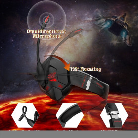 ONIKUMA Gaming Headset Super Bass LED with Microphone - K11 - Black/Red - 6
