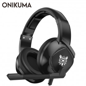 ONIKUMA Gaming Headset Super Bass LED with Microphone - K19 - Black