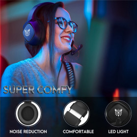 ONIKUMA Gaming Headset Super Bass LED with Microphone - K19 - Black - 7