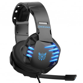 ONIKUMA Gaming Headset Super Bass LED with Microphone - K17 - Black/Blue - 2