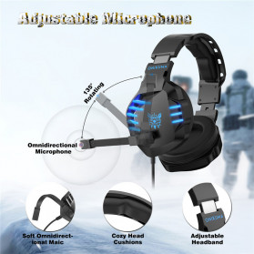ONIKUMA Gaming Headset Super Bass LED with Microphone - K17 - Black/Blue - 5