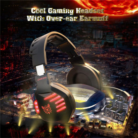 ONIKUMA Gaming Headset Super Bass LED with Microphone - K17 - Black/Blue - 8